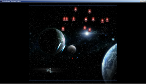 Defenders of the Last Colony arcade mode screen.