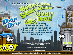 Drip Drip Charity Drive for Hurricane Sandy Relief