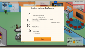 Game Dev Tycoon Review Scores