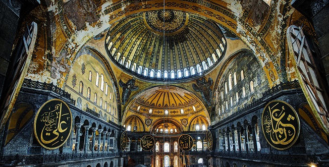 The Hagia Sophia, one of the more important locales in the story.